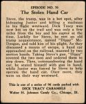 1931 Dick Tracy #70   The Stolen Hand Car Back Thumbnail
