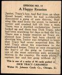 1931 Dick Tracy #33   Junior Runs Into Tracy Back Thumbnail