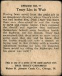 1931 Dick Tracy #77   Tracy Lies in Wait Back Thumbnail
