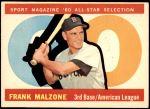 1960 Topps #557   -  Frank Malzone All-Star Front Thumbnail