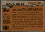 1981 Topps #276  Dave Butz  Back Thumbnail