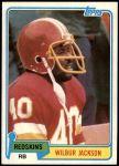 1981 Topps #44  Wilbur Jackson  Front Thumbnail