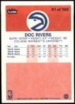 1986 Fleer #91  Doc Rivers  Back Thumbnail