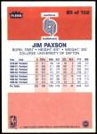 1986 Fleer #85  Jim Paxson  Back Thumbnail