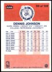 1986 Fleer #50  Dennis Johnson  Back Thumbnail