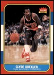 1986 Fleer #26  Clyde Drexler  Front Thumbnail
