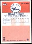 1986 Fleer #112  Sedale Threatt  Back Thumbnail