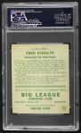 1933 Goudey #190  Fred Schulte  Back Thumbnail