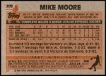 1983 Topps #209  Mike Moore  Back Thumbnail