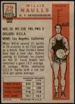 1957 Topps #29  Willie Naulls  Back Thumbnail