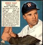 1952 Red Man #25 AL x Eddie Yost  Front Thumbnail