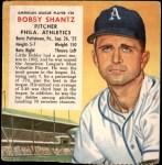 1953 Red Man #20 AL x Bobby Shantz  Front Thumbnail