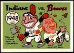 1970 Fleer World Series #45   1948 Indians vs. Braves Front Thumbnail