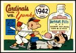1970 Fleer World Series #39   1942 Cardinals vs. Yankees Front Thumbnail
