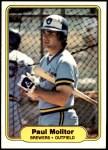 1982 Fleer #148  Paul Molitor  Front Thumbnail