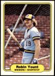 1982 Fleer #155  Robin Yount  Front Thumbnail
