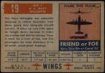 1952 Topps Wings #19   HUP-1 Back Thumbnail