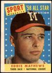 1958 Topps #480   -  Eddie Mathews All-Star Front Thumbnail