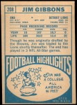 1968 Topps #208  Jim Gibbons  Back Thumbnail