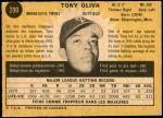 1971 O-Pee-Chee #290  Tony Oliva  Back Thumbnail