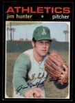 1971 O-Pee-Chee #45  Catfish Hunter  Front Thumbnail