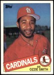 1985 Topps #605  Ozzie Smith  Front Thumbnail