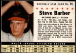 1961 Post Cereal #74 BOX Steve Barber   Front Thumbnail