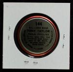 1964 Topps Coins #144   -  Tony Taylor All-Star Back Thumbnail