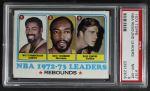1973 Topps #157   -  Wilt Chamberlain / Nate Thurmond / Dave Cowens NBA Rebounds Leaders Front Thumbnail