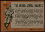 1965 Topps Battle #56   The United States Marines  Back Thumbnail