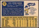 1970 Topps #703  Lou Marone  Back Thumbnail