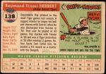1955 Topps #138  Ray Herbert  Back Thumbnail