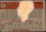 1952 Topps #363  Dick Rozek  Back Thumbnail