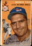 1954 Topps #246  Howard Fox  Front Thumbnail