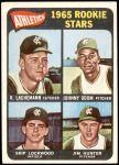 1965 Topps #526   -  Catfish Hunter / Blue Moon Odom / Skip Lockwood / Rene Lachemann Athletics Rookies Front Thumbnail