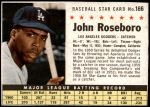 1961 Post Cereal #166 BOX John Roseboro   Front Thumbnail