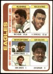 1978 Topps #521   -  Mike Hogan / Harold Carmichael / Herman Edwards / Lem Burnham / John Sanders Eagles Leaders & Checklist Front Thumbnail