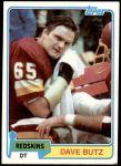 1981 Topps #276  Dave Butz  Front Thumbnail