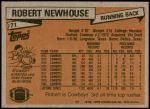 1981 Topps #71  Robert Newhouse  Back Thumbnail