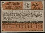 1972 Topps #737  Len Randle  Back Thumbnail