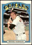 1972 Topps #550  Brooks Robinson  Front Thumbnail
