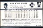 1971 Kellogg's #71  Glenn Beckert  Back Thumbnail