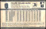 1971 Kellogg's #7  Felipe Alou   Back Thumbnail