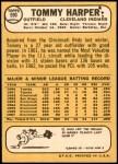 1968 Topps #590  Tommy Harper  Back Thumbnail