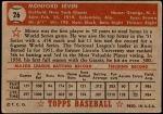 1952 Topps #26  Monte Irvin  Back Thumbnail