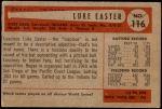 1954 Bowman #116  Luke Easter  Back Thumbnail