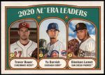 2021 Topps Heritage #91   -  Dinelson Lamet / Yu Darvish / Trevor Bauer League Leaders Front Thumbnail