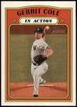 2021 Topps Heritage #250   -  Gerrit Cole In Action Front Thumbnail