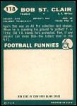 1960 Topps #118  Bob St. Clair  Back Thumbnail