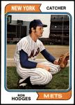 1974 Topps #448  Ron Hodges  Front Thumbnail